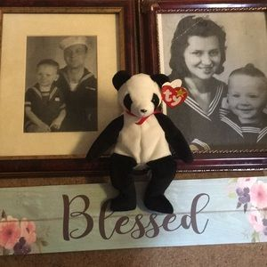 Blessed Sign and Ty Beanie Baby Fortune 1997